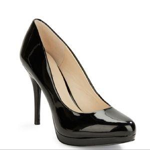 Nine West Classic Black Patent Leather Heels
